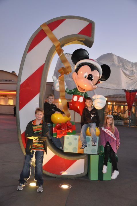 National American Miss family fun at Disney Land