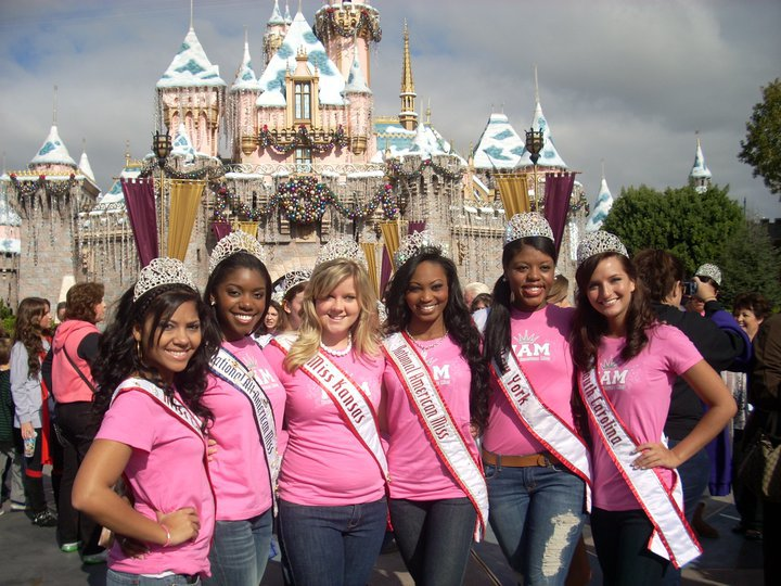 NAM girls having fun in Disney Land at the National American Miss annual National Pageant in California!