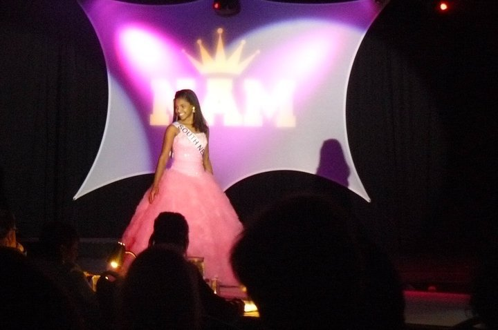 Miss South New York Pre-Teen in the Formal Wear Competition