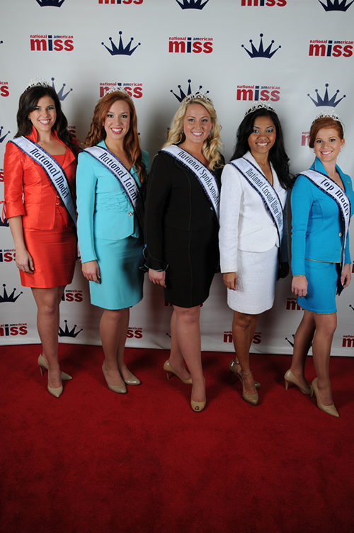 National American Miss Red Carpet Award Winners